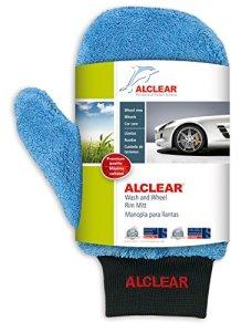 ALCLEAR 950013WH Premium Waschhandschuh, weiß mit schwarzem Bündchen 1