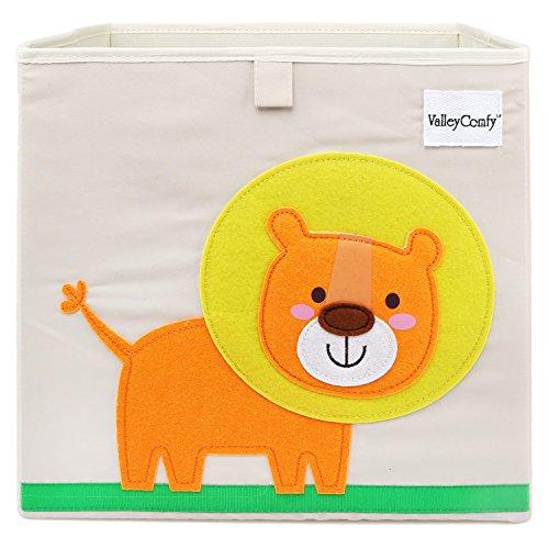 Valleycomfy Scatola di giocattoli animali cartoon scatola di immagazzinaggio per bambini cubo...