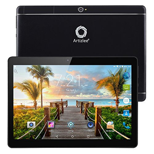 "Nuevo Tablet Artizlee ATL-31, 10.1"" 4G Tablet Pc (Android 6.0, Octa Core, FHD 1920x1200 IPS, Dual Sim, 2GB RAM, 32GB, Cámara 5.0MP, WiFi, Bluetooth, OTG) Negro, 2017 Versión Actualizada"