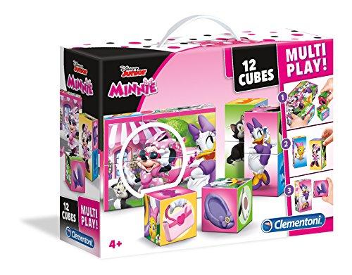Clementoni - 41506 - Puzzle Cubi Multi play - Minnie Happy Helpers - 12 Cubi - Disney