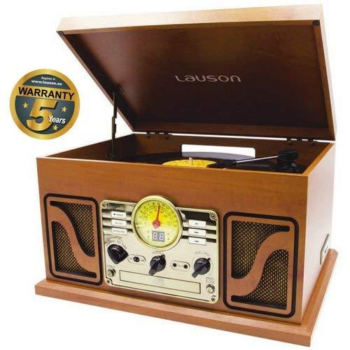 Lauson Giradischi Vintage   Bluetooth   Usb   Altoparlante Stereo Incorporato   Lettore Vinile CD  ...