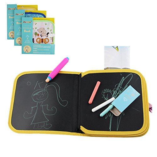 Lavagnetta portatile a libretto in tessuto, per bambini, per disegnare, scrivere e imparare, con...