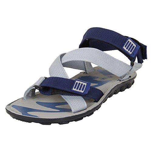 Earton Men's Footwear Grey-850 Canvas Sandals (8 UK)