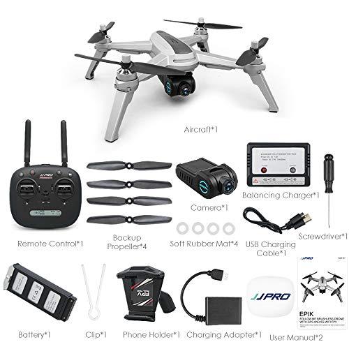 Thboxes JJRC JJPRO X5 5G WiFi FPV RC Drone GPS Posizionamento di altitudine Tenere la Fotocamera 1080P Motore brushless 2 batterie
