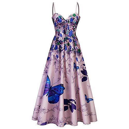 Vestidos De Verano para Flores Mariposas Vestido con Mujer Y Ropa Festiva De Playa Vestido Largo De Noche para Mujer