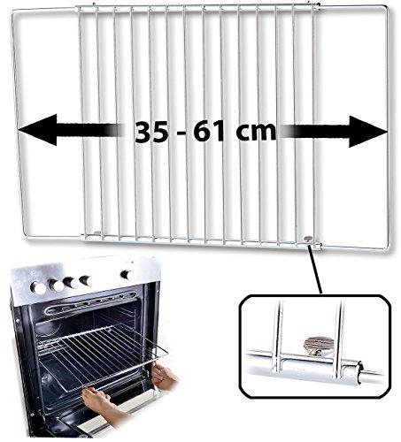 Rosenstein & Söhne teglia da forno:Universale griglia da forno, estensibile da 35-61cm,...