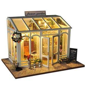 GSC-home Madera casa de muñecas Modelo de Bricolaje Set-Woodcraft Construction Kit-Madera de construcción Set-Mini casa Manualidades, Mejores Regalos de cumpleaños for Mujeres y niñas