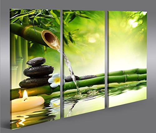 Quadro moderno Acqua Zen V3 3P Stampa su tela - Quadro x poltrone salotto cucina mobili ufficio casa - fotografica formato XXL