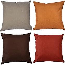 Kate 4 confezioni semplice colore solido custodia cuscino decorativo Cuscino copertura 45 x 45 cm marrone grigio coperture per arredamento design