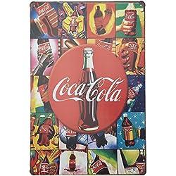 Placas Decorativas Vintage metalicas Coca Cola. Chapas Bar Pared Garaje Cocacola