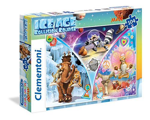 Clementoni 23977-Maxi Puzzle Maxi Ice Age 5, 104 Pezzi, Multicolore, 23977