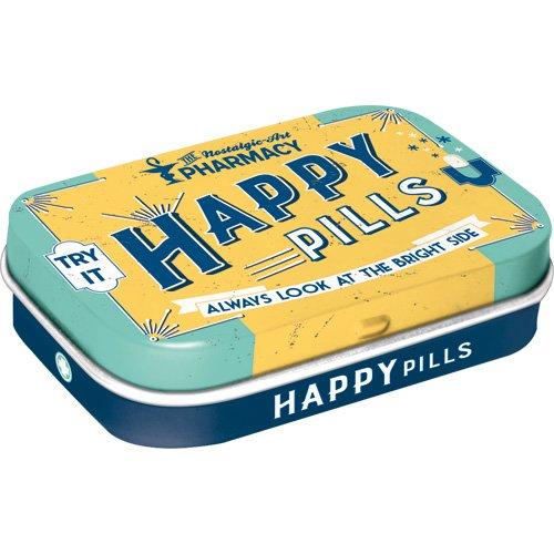 Nostalgic-Art 81330 Nostalgic Pharmacy - Happy Pills   Pillen-Dose   Bonbon-Box   Metall   mit Pfefferminz-Dragees