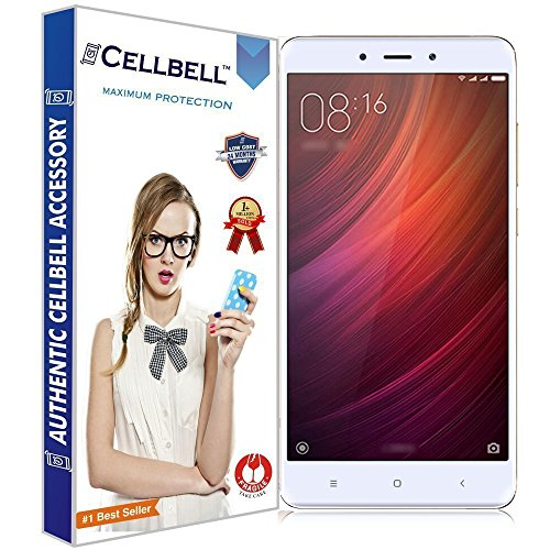CELLBELL® Tempered Glass Screen Protector For Xiaomi Redmi Note 4 With FREE Installation Kit