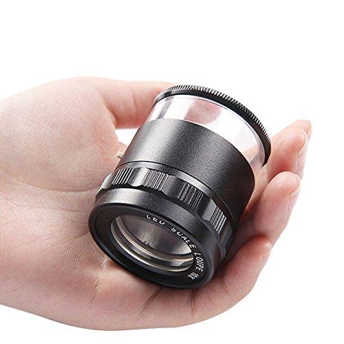 con Scala Magnifier Gioielli Gioco Antico Identificazione Mobile Orologio Riparazione Elettronica HD...