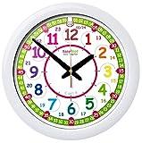 Reloj infantil de pared EasyRead Time Teacher, que indica la hora (digital) en formato de 12 y 24 horas. Aprende a leer la hora digital en un reloj analógico con un sencillo sistema de enseñanza en 2 pasos. Diámetro 29 cm, destinado a niños entre 5 y 12 años.