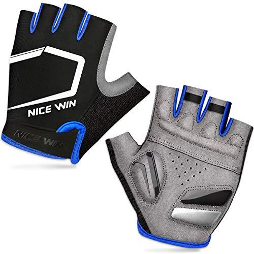 LOHOTEK Half-Finger Sports Gloves (Blu, M)