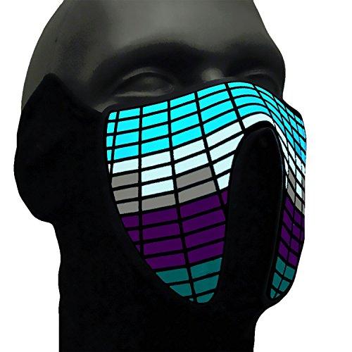 Ucult, Machera a LED con equalizzatore–Passamontagna, per moto, protezione viso, Bicicletta,...