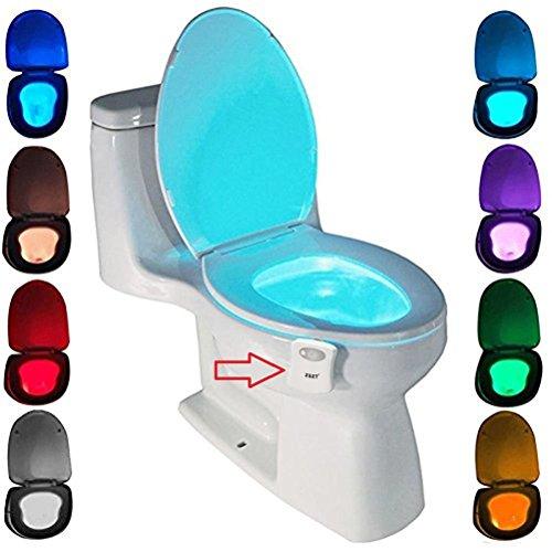 Lampada Notturne igienici Bagno WC Led Luce Batteria con notte Sensore di Movimento, ZSZT 8...
