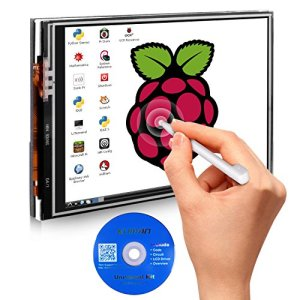 51Ox7MSeoBL - Kuman 3.5 Inches Touch Screen Display Monitor 480x320 LCD Touch Screen Kit with 16GB TF Card for Raspberry Pi 3 Model B SC06+TF