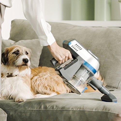 Vax TBTTV1B1 Cordless SlimVac 22.2 V Bagless Vacuum Cleaner, 0.6 L - Graphite Silver/Blue