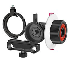 Neewer Follow Focus con Gear Cinturón Anillo para Canon, Nikon, Sony y otros cámara réflex digital Videocámara DV Vídeo para 15 mm Rod Film making System, Hombro Apoyo, estabilizador, vídeo Rig (rojo + negro)