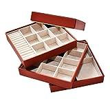 SANQIANWANG Jewelry Storage Box Cassetto PU 4 Strati Organizer Custodia per Ragazze