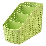 multi funzione plastica 4griglia sub grid desktop Storage organizer box, Green, taglia unica