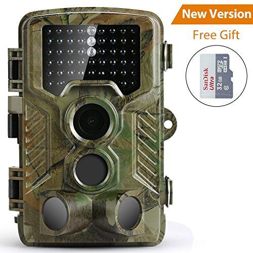 Caméra de Chasse Coolife Caméra de Surveillance Étanche 49 LEDs 16MP...