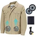 Dastrues Unisex Workwear Jacket Clothes Equipped Cooling Fan for Summer Outdoor Air-Conditioned