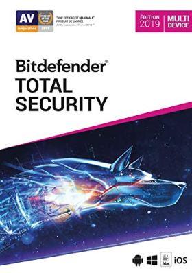 Bitdefender Total Security 2019 | Standard | 5 appareils | 1 An | PC/Mac | Code d'activation - envoi par email