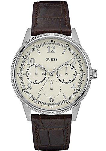 Guess Orologio Cronografo al Quarzo Uomo con Cinturino in Pelle W0863G1
