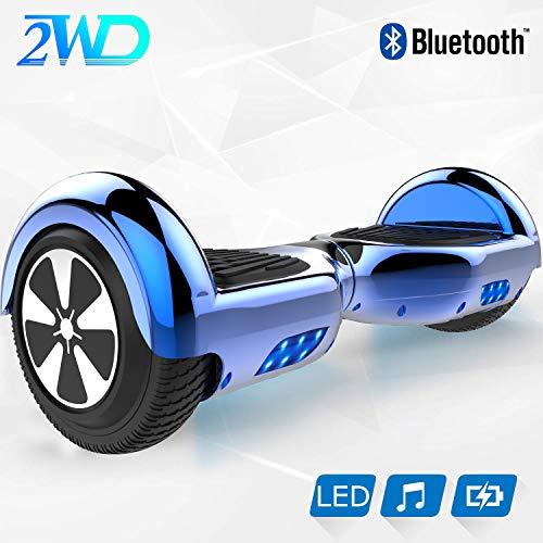 2WD Hoverboard Scooter Elettrico 6.5 '' Equilibrato Scooter Elettrico con Altoparlante Bluetooth,...