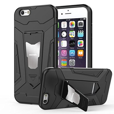 HOOMIL Cover iPhone 6,Cover iPhone 6S Nero Armor Custodia Protettiva per Apple iPhone 6/6S TPU Silicone Case – Black (H3230)