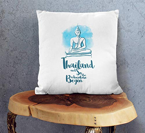 Thailandese, Federa per Cuscino da Divano, Decorazione per la Camera degli Ospiti, con Stampa, 18 x...