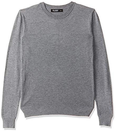 Qube By Fort Collins Women's Sweater (CH101_Grey_XXL)