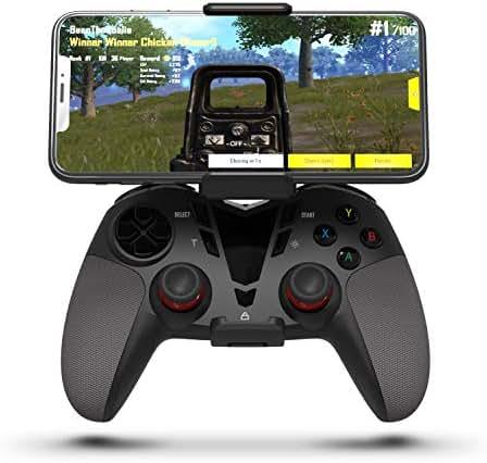 Darkwalker Wireless Controller für iOS/Android OS/PS3/PC Windows, Handy Gamepad Unterstützt Handyspiele Schwarz