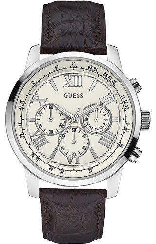 Guess Orologio Cronografo Quarzo Uomo con Cinturino in Pelle W0380G2