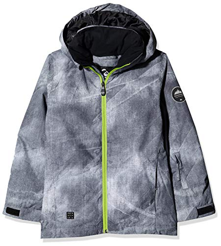 Quiksilver Mission Printed Youth, Snow Jacket Bambino, Black/Construct, 14/XL