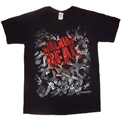 The Walking Dead Walker Horde and Logo - Camiseta manga corta para hombre, color negro, talla L