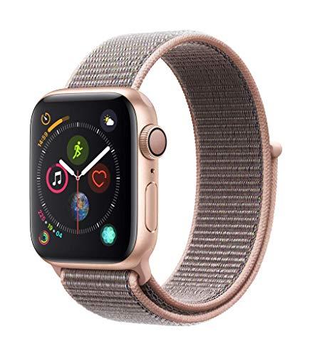 AppleWatch Series4 (GPS) con caja de 40mm de aluminio en oro y correa Loop deportiva rosa arena