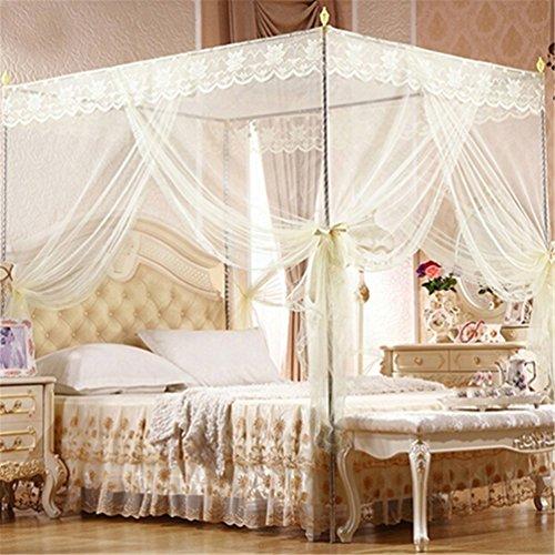 Bismarckbeer, zanzariera per letto matrimoniale a baldacchino, tenda per letto singolo,...