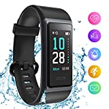 HolyHigh 153 Smart Band Fitness Watch, Fitness Tracker with Heart Rate Sleep Monitor Waterproof Fitness Band with Call Whatsapp Alert Stop Watch Pedometer for Men Women Boys Girls