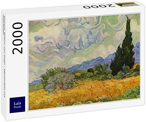 Lais Puzzle Vincent Willem Van Gogh - Campo di Grano con cipressi 2000 Pezzi