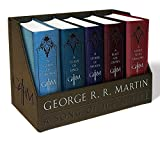 A Game of Thrones Leather-Cloth Boxed Set: A Game of Thrones, a Clash of Kings, a Storm of Swords, a Feast for Crows, and a Dance with Dragons (Song of Ice and Fire)