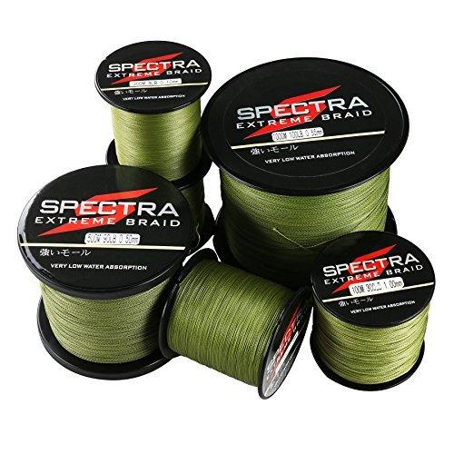 Spectra Extreme Braid, lenza da pesca intrecciata colore verde militare, 100m/109Yards 30lb/0.26mm