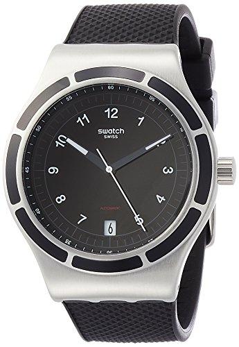 Swatch Herren Analog Automatik Uhr mit Silikon Armband YIS413