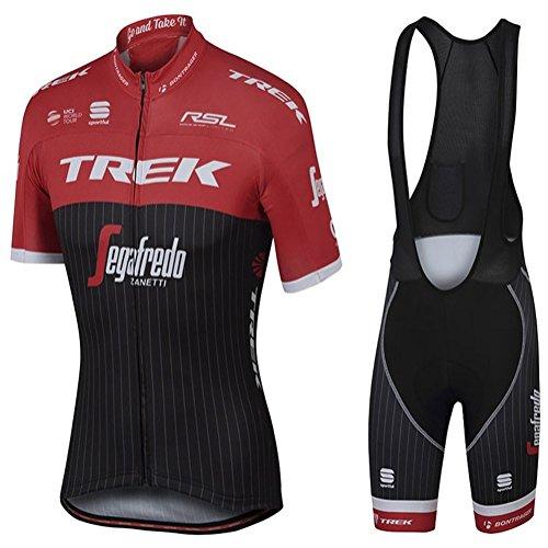 Mens Ciclismo Jersey Team Ciclismo Ropa Jersey Bib Shorts Kit Camisa de secado rápido Ropa al aire libre de la bicicleta , red , L