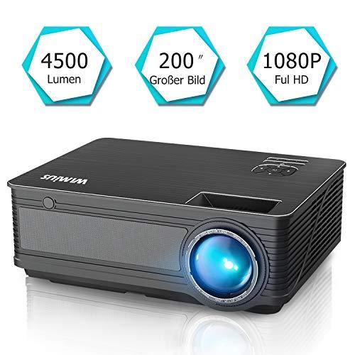 Proiettore video WiMius, 4200 lumen, 1280 x 800 pixel, Full HD 1080P supporta Home Theatre, HDMI VGA...