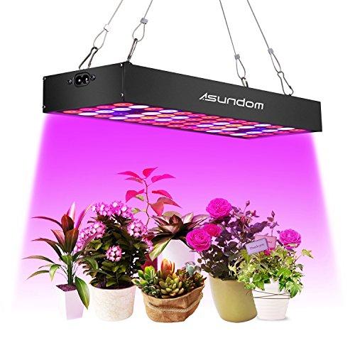 ASUNDOM Lampade per Piante,Pannello Completo Spettro UV e IR 36W Luci per Piante di Alluminio...