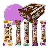 NICKS Chocolate Mix, Barritas de chocolate surtidas, sin azúcar añadido, sin gluten (6 x 40g + 6 x 25g)